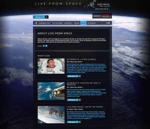 Stu the copywriter - live from space