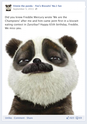 Stu the copywriter - Lincolnshire - Vinnie the panda