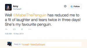 Stu the copywriter - Lincolnshire - Monty the PenguinScreen Shot 2014-11-13 at 17.12.49